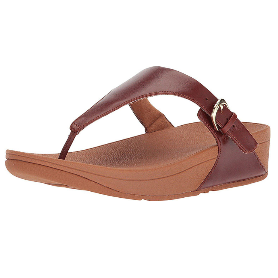 The Skinny Leather Toe-Thong Sandals (Cognac)