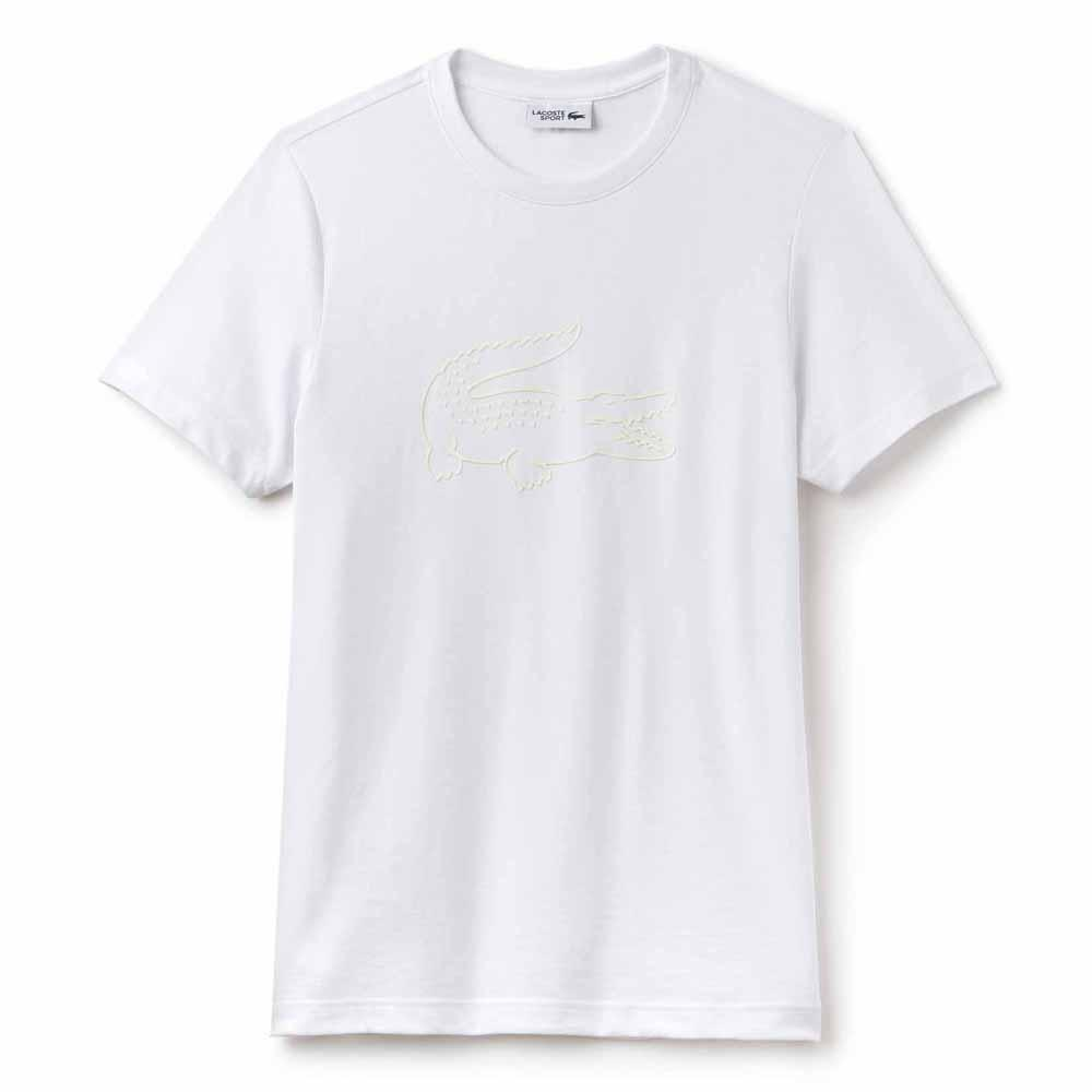 MEN'S SPORT OVERSIZED CROC TECH JERSEY TENNIS T-SHIRT WHITE