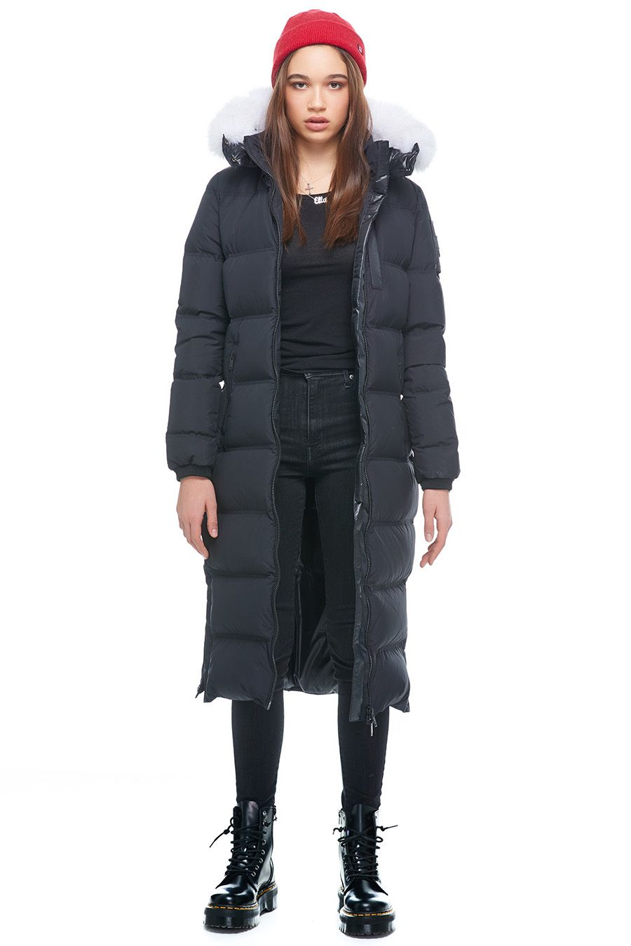 FOX VALLEY PARKA Black w Natural