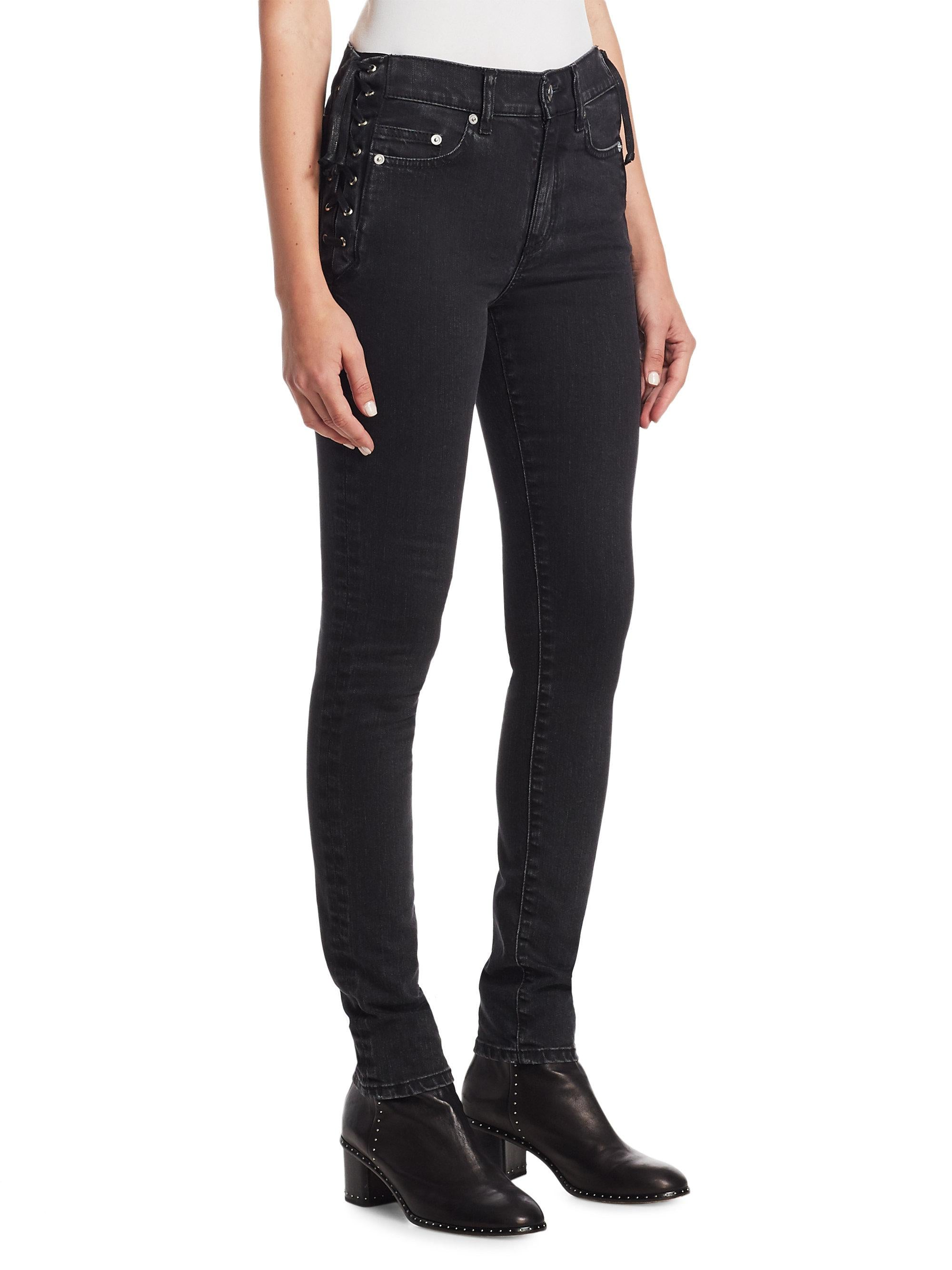 Black Laced Harvey Jeans