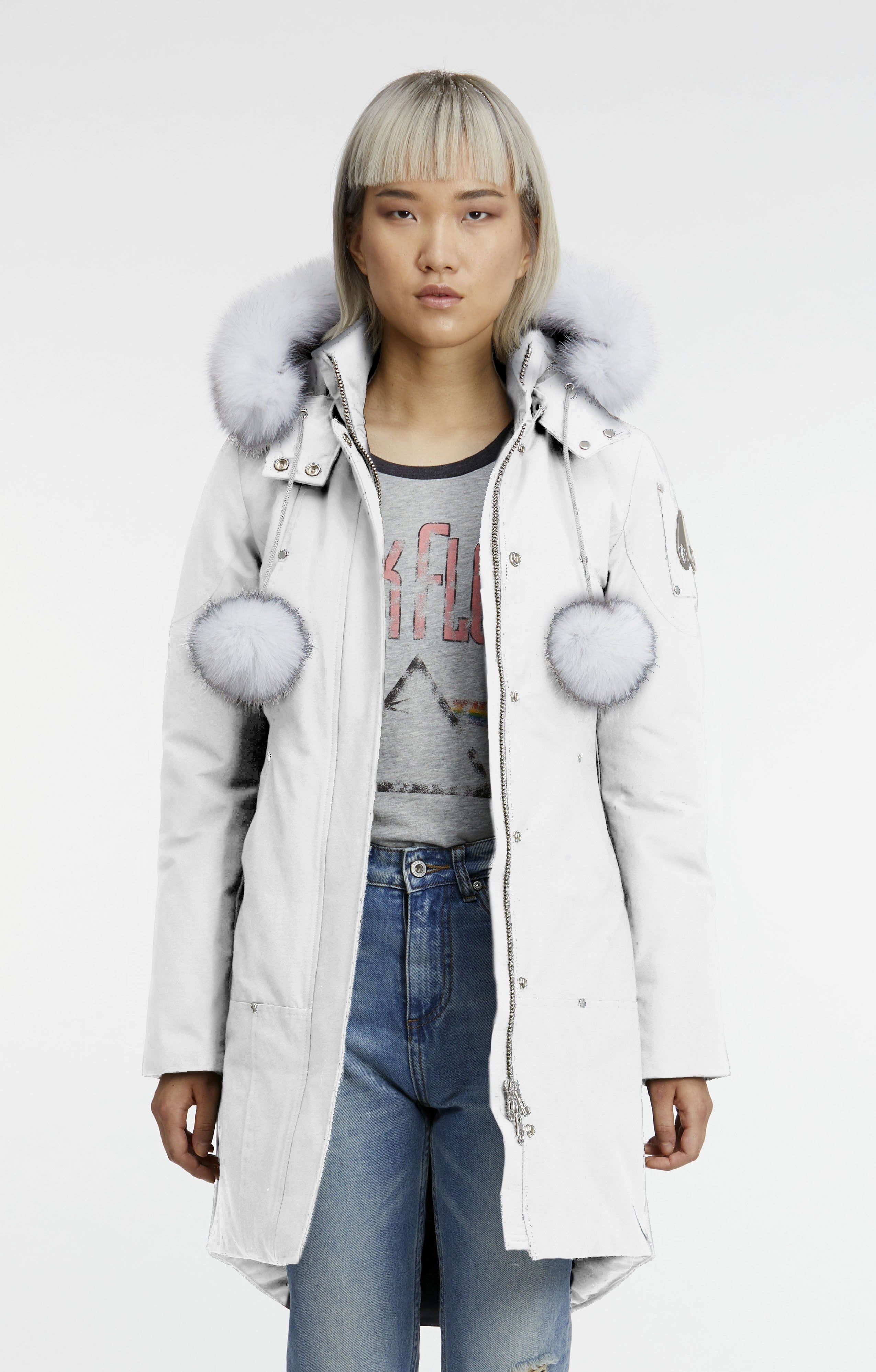 Stirling Parka Women's Snow White/White Fur