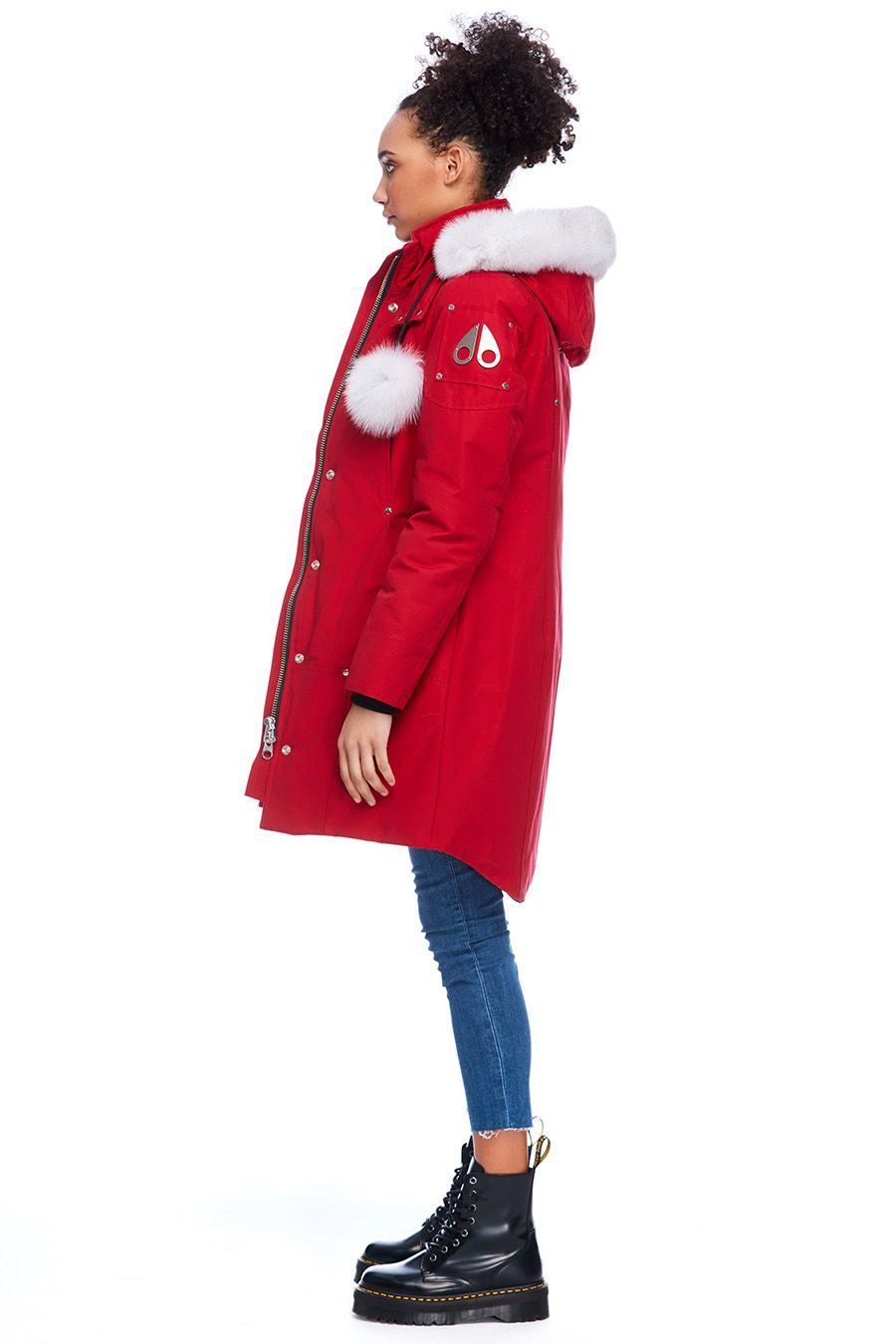 Stirling Parka Women's Deep Red/White Fur
