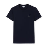Men's Crew Neck Pima Cotton Jersey T-Shirt BLACK