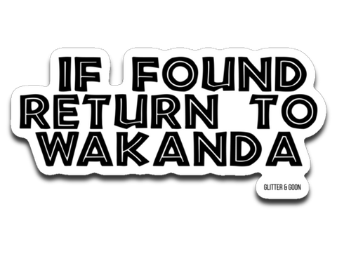 Return to Wakanda Sticker