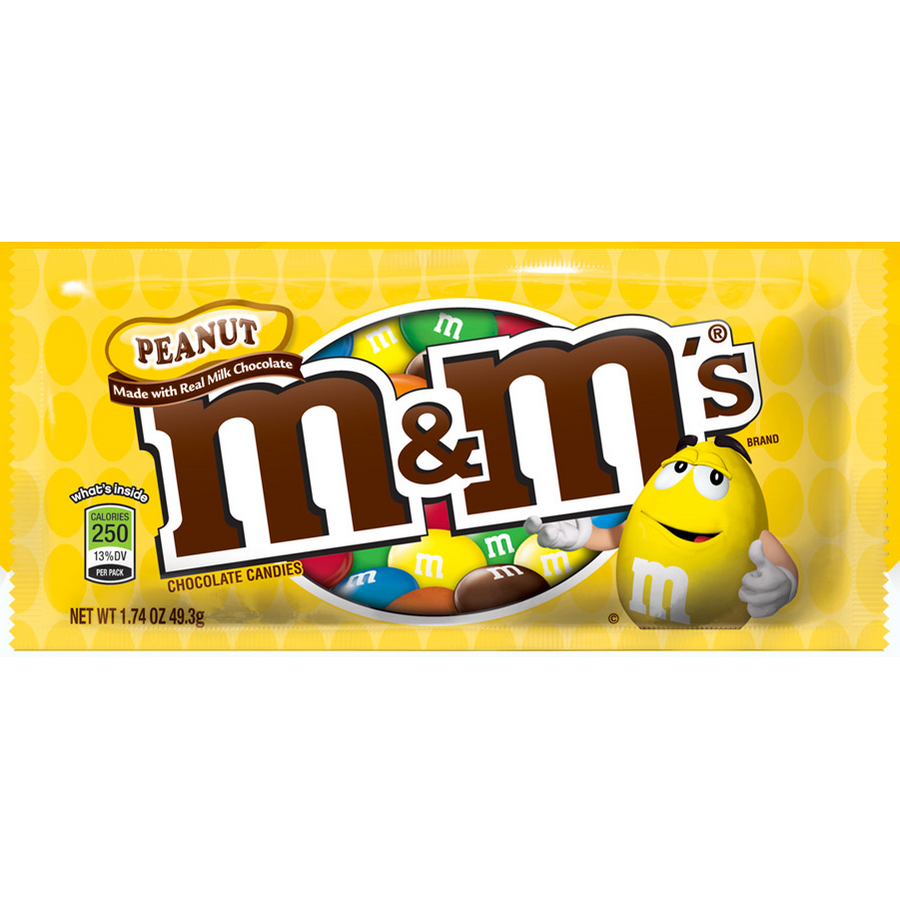M&M'S Peanut Chocolate Candies 49.3G