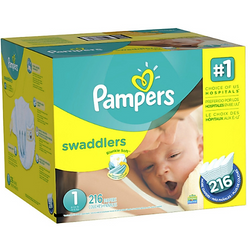 Pampers Swaddlers Diapers Size 1 Economic (216 Pack)