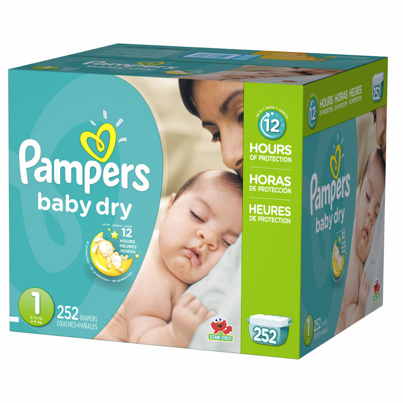 Pampers Baby Dry Diaper Size 1 Economic (252 Pack)