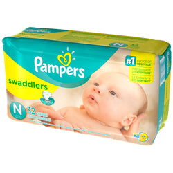 Pampers Swaddlers Diapers Newborn (32 Pack)