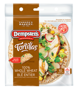 "Dempster's 7"" Tortillas 100% Whole Wheat (Pack of 10)"