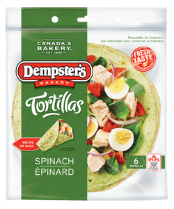 "Dempster's 10"" Tortillas Spinach (Pack of 6)"