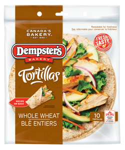"Dempster's 10"" Tortillas Whole Wheat (Pack of 10)"