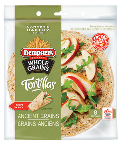 "Dempster's 7"" Whole Grains Ancient Grain Tortillas (Pack of 8)"