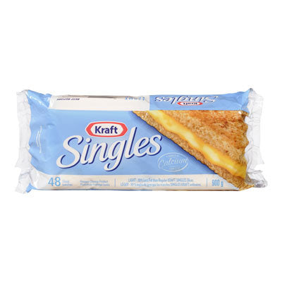 Kraft Singles Fat-Free Cheese Slices Light (Pack of 48)