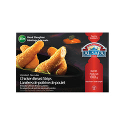 Al Safa Halal Chicken Breast Strips, 680G