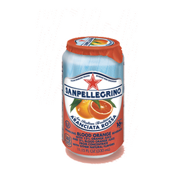 San Pellegrino Blood Orange Aranciata Rossa 6/pk  330mL