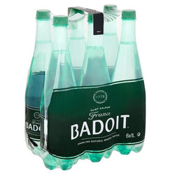 Badoit Carbonated Natural Mineral Water, (6x1L)