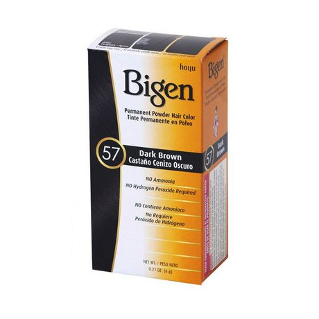 "Bigen Permanent Powder Hair Color Dark Brown ""57"" 6G"