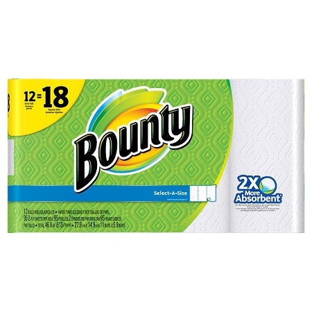 Bounty Basics Select-A-Size Paper Towel 12 Rolls