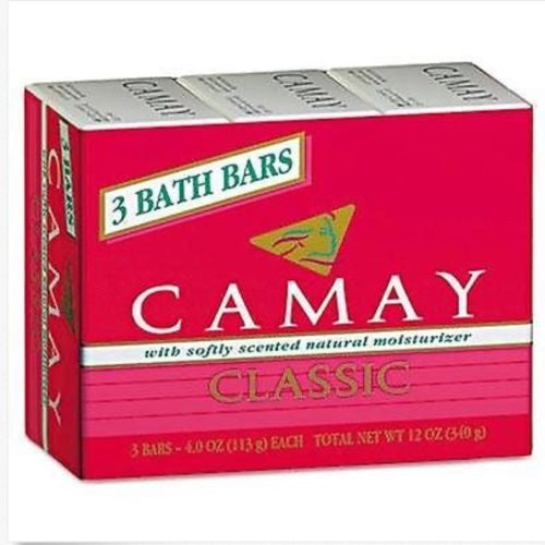 CAMAY Classic Body Soap (3 Bath Bars)