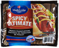 Maple Lodge Farms Spicy Ultimate Chicken Frank 900G