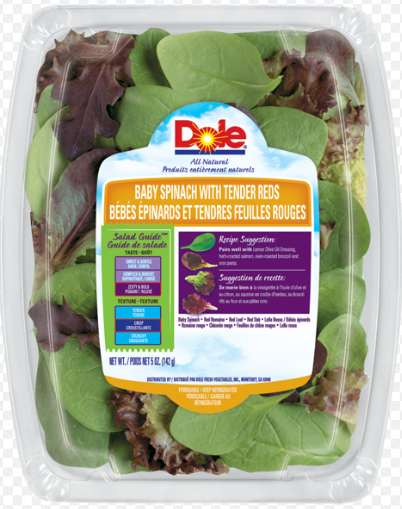 Baby Spinach with Tender Reds 142g