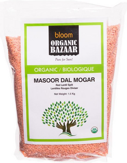 Bloom Organic Red Lentils Split (Masoor Dal Mogar) 1.5kg