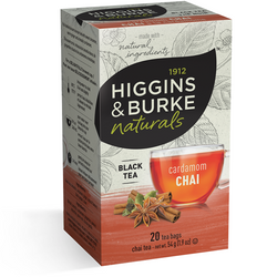 1912 HIGGINGS & BURKE Naturals Black Tea Cardamom Chai (20 Bags)