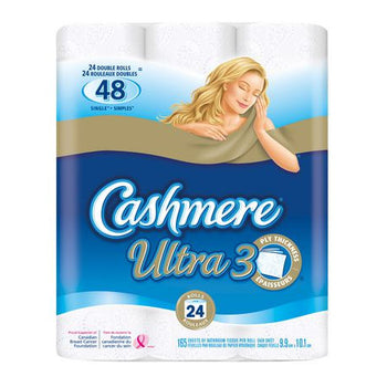 Cashmere Ultra Double Bathroom Tissue Ultra 3-Ply (24 Rolls)