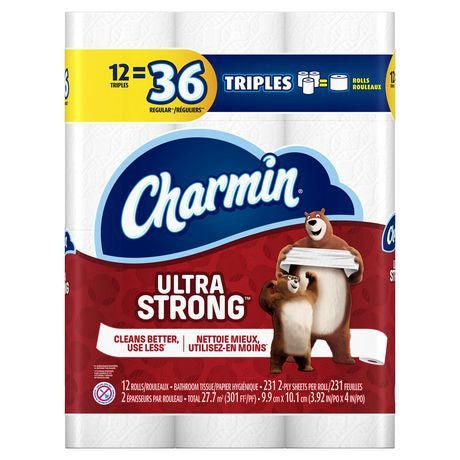 Charmin Ultra Strong Bathroom Tissu 3-Ply (12 Rolls)