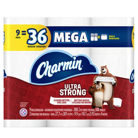 Charmin Ultra Strong Bathroom Tissue (9 Mega Rolls)
