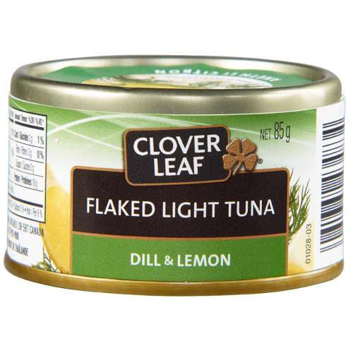 Clover Leaf Flaked Light Tuna Dill & Lemon, 85G