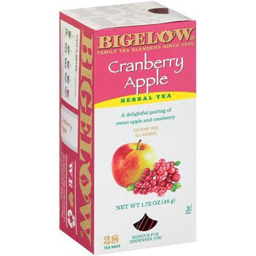 BIGELOW Cranberry Apple Herbal Tea (28 Packs)