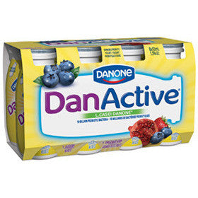 Danone DanActive - Blueberry/Pomegranate & Berry Drinkable Yogurt  8 x 93ML