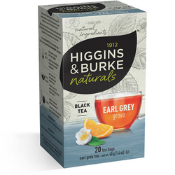 1912 HIGGINGS & BURKE Naturals Black Tea Early Grey Grove (20 Bags)