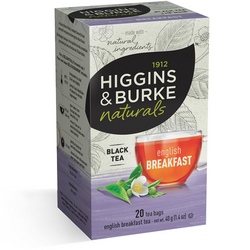 1912 HIGGINGS & BURKE Naturals Black Tea English Breakfast (20 Bags)
