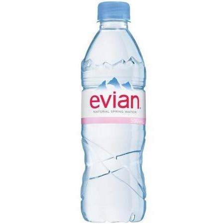 Evian Natural Spring Water 24x500ml
