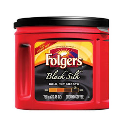 Folgers Black Silk Ground Coffee 750G