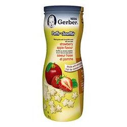 Gerber Puffs Strawberry Apple Flavour, 42G