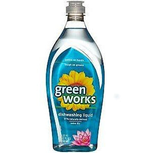 Green Works Dishwashing Liquid Water Lily 650ml