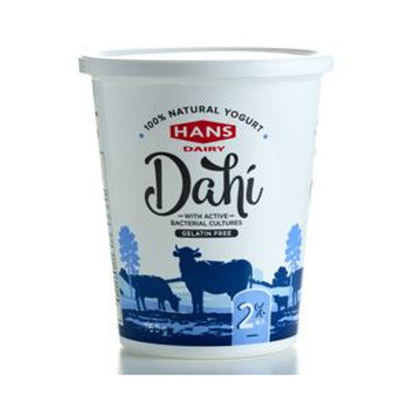 Hans Dahi Natural Yogurt M.F 2% 750G