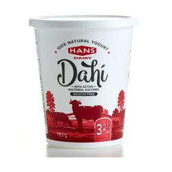 Hans Dahi Natural Yogurt M.F. 3.2% 750G