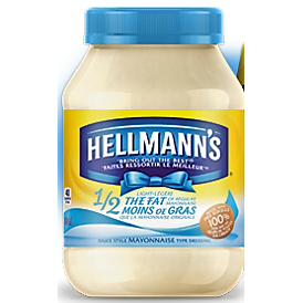 Hellmann's Half the Fat Mayonnaise 890ml