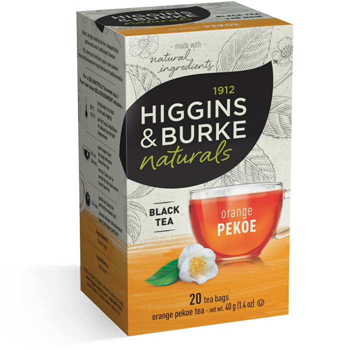 1912 HIGGINGS & BURKE Naturals Black Tea Orange Pekoe (20 Bags)