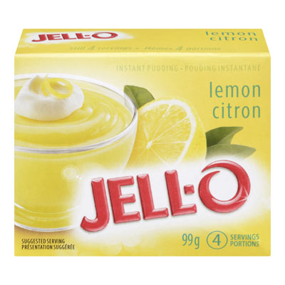 JELL-O Jelly Instant Lemon Pudding, 99G