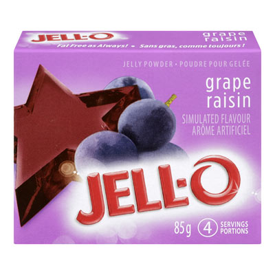 JELL-O Jelly Grape Powder, 85G