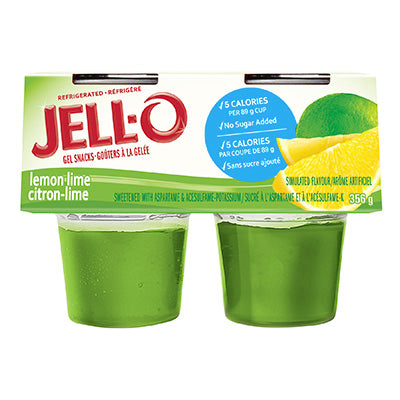 JELL-O Refrigerated Ready-To-Eat Gelatin Lemon Lime, 356G
