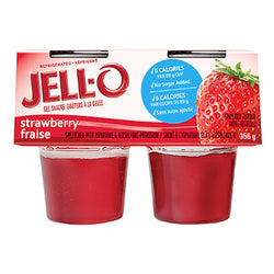 JELL-O Refrigerated Ready-To-Eat Gelatin Strawberry, 356G