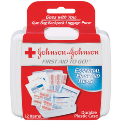Bandages - Johnson & Johnson  First Aid to go 12 Items