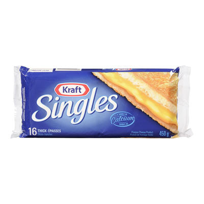 Kraft Singles Thick Cheese Slices Regular ( Pack of 16)
