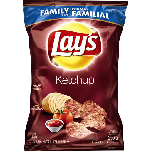 Frito Lay's Ketchep Potato Chip (Family Size) 255G